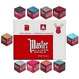 Master® Billiard Cue Chalk; 12 Pieces Per Box