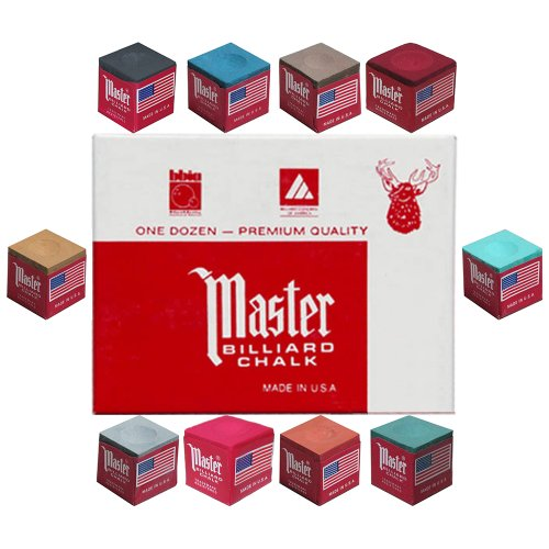 Review Master® Billiard Cue Chalk; 12 Pieces Per Box