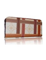 Sn Louis Fabric Brown Women Clutch SAMCO-698