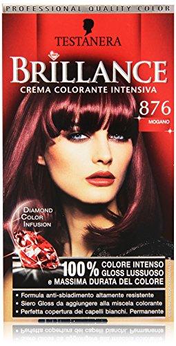 Testanera - Brillance, Crema Colorante Intensiva, 876 Mogano