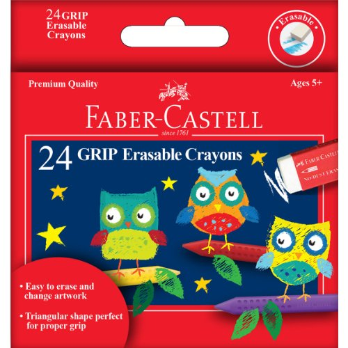 GRIP Erasable Crayons 24/Pkg- - 1