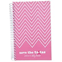 2014-2015 save the ta-tas Academic Year Daily Day Planner Fashion Organizer Agenda August 2014 Through July 2015 Pink Chevron