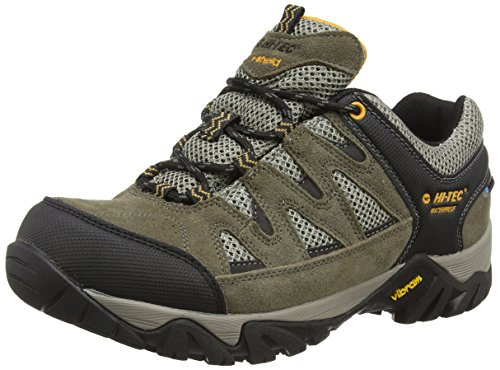 Hi-Tec Sonorous I Waterproof - Scarpe da Arrampicata Basse uomo, colore Marrone (Brown (Dark tp/Gold 041)), taglia 45 EU (11 UK)