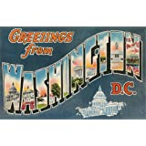 Nostalgia Wall Decals Greetings from Washington - 72 inches x 46 inches - Peel and Stick Removable Graphic sale 2015