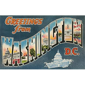 Nostalgia Wall Decals Greetings from Washington - 72 inches x 46 inches - Peel and Stick Removable Graphic sale off 2015