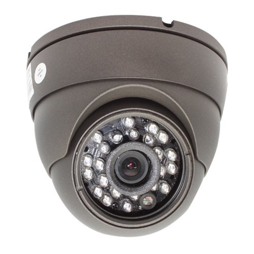 Aluminum Dome Indoor Security Camera - 520 TV lines 3.6mm Len Wide Angle View. Good for Indoor Surveillance. 0 Lux Minimum Illumination