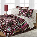 Loft Style Gypsy Hippie Chic Girls Comforter Set With 250Tc Sheets, Pink, Full