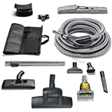 Central Vacuum Hose Kit fits ALL systems Turbo Head Tools Warranty & More