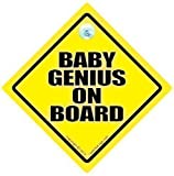 Baby Genius On Board Car Sign Baby on Board Car Sign Funny Car Sign Baby on Board Sign Baby on Board Funny Car Sign Bumper Sticker Decal Car Sticker Baby Sign baby Car Sign Child On Board Smart Kid