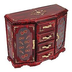 Tuelip Double Door-Cupboard Design Jewellery & MakeUp Vanity Jewellery Box