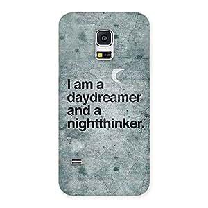 Enticing Knight Thinker Multicolor Back Case Cover for Galaxy S5 Mini