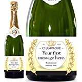 Personalised Champagne Bottle gift, 750ml - Option to add a gift box - A great Birthday, Anniversary, Engagement, Retirement, Easter, Mother's day, Father's day, Valentine's day, Wedding or Christmas gift or present idea for him, her, mum, dad, sister, brother, gran, grandad, son, daughter, husband, wife, engagement,