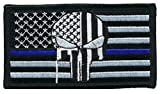 Patch Squad Men's Tactical USA Flag Bleeding Punisher Thin Blue Line Velcro Patch