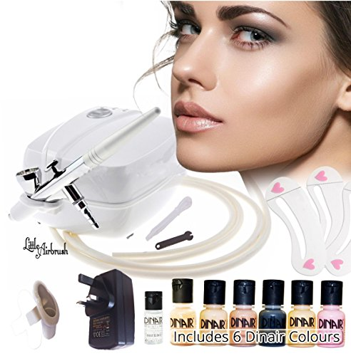 little-airbrush-professional-compact-makeup-kit-6-makeup-colours-pro-airbrush-and-stencils