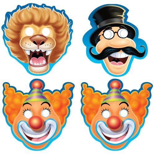 Creative Converting Big Top Birthday 8 Count Child Masks