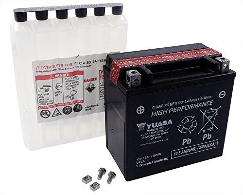 Batterie YUASA - YTX14H-BS wartungsfrei für HONDA ST1100, ABS-TCS, 1100A 1100 ccm Baujahr 91-'02 [inkl. 7,50 EUR Batteriepfand]