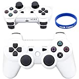 Super Premium Wireless Bluetooth Six Axis Dualshock Game Controller for Sony Ps3, White