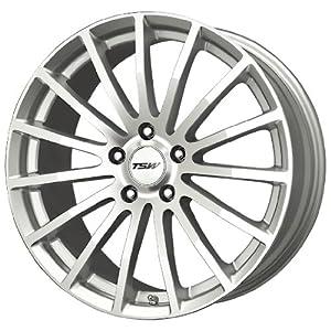 TSW Alloy Wheels Mallory Silver Machined Wheel (17x7