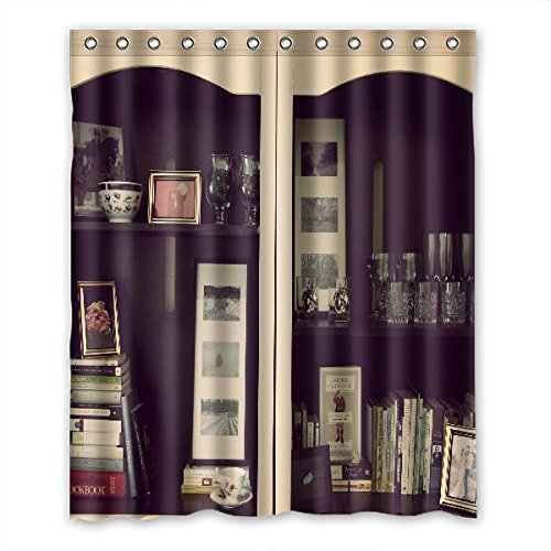 "Smiling You Generic Bookshelf Machine Washable Custom Bath Shower Curtain 60"" x 72"""