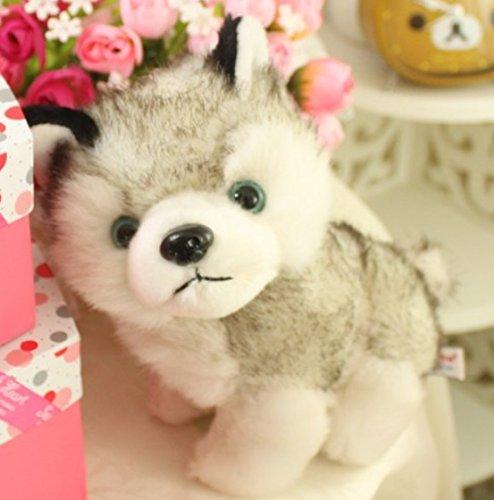 かわいい シベリアンハスキーのぬいぐるみ 子犬 30cm