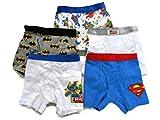 DC Superfriends Little Boys' 5 Pack Boxer Briefs Batman Superman Size 2T/3T & 4T