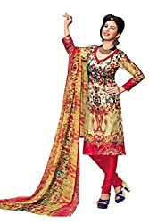 CHINTAN TEXTILES Ethnicwear Women's Dress Material Multi-Coloured_Free Size