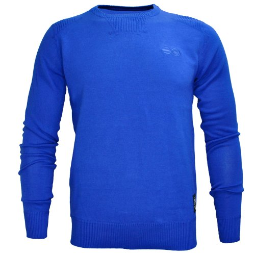 Crosshatch Lyon Smart Crew Neck Jumper Knitted Top Mens Size S - Surf Blue
