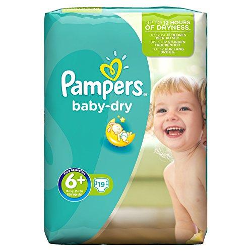 Pampers, Pannolini Baby Dry, misura 6+ (16+ kg), pacco convenienza, 4 confezioni (4 x 19 pz.)