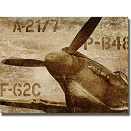 Vintage Airplane by Dylan Matthews Premium Stretched Canvas (Ready to Hang)