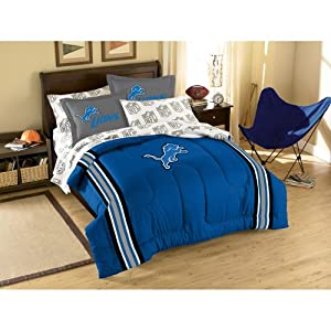 NFL Detroit Lions Full Bed in a Bag with Applique Comforter by Northwest