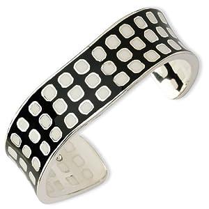 Sterling Silver Resin Cuff Bracelet - JewelryWeb