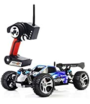 TOZO RC CAR High Speed 32MPH 4x4 Fast Race Cars 1:18 RC SCALE RTR Racing 4WD ELECTRIC POWER BUGGY W/2.4G Radio Remote control Off Road Truck Powersport Roadster Blue