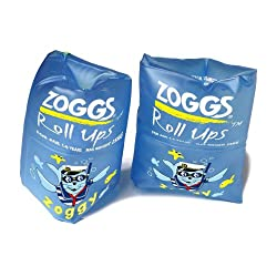 Zoggs Boys Roll Ups Inflatable Armbands, Blue