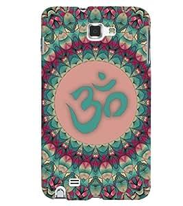 PrintVisa Religious & Spiritual OM 3D Hard Polycarbonate Designer Back Case Cover for Samsung Galaxy Note 2