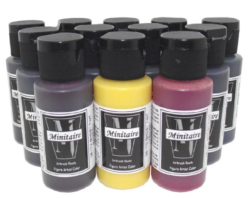 Badger Air-Brush Minitaire 12-Color Ghost Tint transparent Acrylic Paint Set (Paint Tint compare prices)