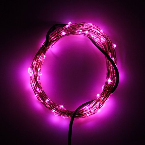 Supernight (Tm) Dc 12V Pink Led Silver String Lights Holiday Birthday Decorative Led Lights Tv Wall Backlighting Bar Mood Light