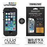 【日本正規代理店品・iPhone本体保証付】【LifeProof 】×【XSHELTER】nuud for iPhone5s Black × 強化ガラス液晶保護フィルム for LIFEPROOF nuud 専用モデル nuud-ip5s-black