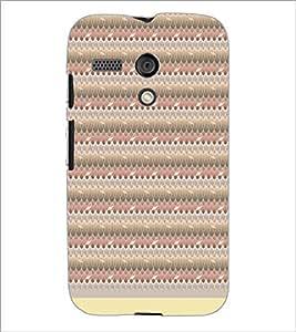 PrintDhaba Leaf Pattern D-1512 Back Case Cover for MOTOROLA MOTO G (Multi-Coloured)