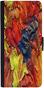 Snoogg Background Made Of Red Maple Leaves Designer Protective Phone Flip Case Cover For Lenovo Vibe X3