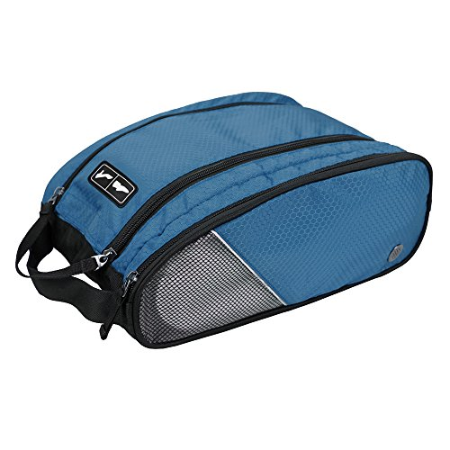 BAGSMART Portable Travel Shoe Bags Gym Sport Sack Organizer Blue (Ski Organizer For Car compare prices)