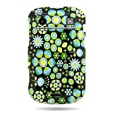 WIRELESS CENTRAL Brand Hard Snap-on Shield With NEON FLOWER Design Faceplate Cover Sleeve Case for BLACKBERRY BOLD TOUCH 9900 9930 9300 (T-MOBILE) with PRY Removal Tool Case [WCJ686]