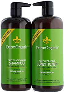 DermOrganic Daily Conditioning Shampoo 33.8oz & Daily Hydrating Conditioner 33.8oz (DUO)