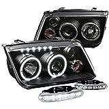 For VW Jetta/Bora Black Halo Projector Headlights w/Driving LED Fog Lamps