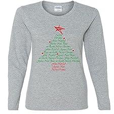 Christmas Universal Language Missy Fit Long Sleeve T-Shirt
