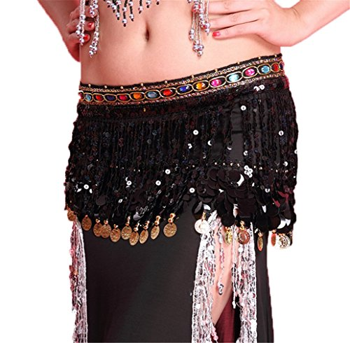 Dreamspell Professional Belly Dance Coins Waist Chain Dancing Costume Props Hip Scarf