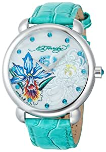 .com: Ed Hardy Women's GN-GR Garden Green Watch: Ed Hardy: Watches
