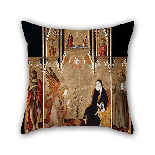 Loveloveu 18 X 18 Inches / 45 By 45 Cm Oil Painting Matteo Di Giovanni - Annunciation With Saints John The Baptist, Bernardine Of Siena; Crucifixion, Saints Peter And Paul Throw Cushion Covers ,2 Si (Toyota Siena Wheel Cover compare prices)