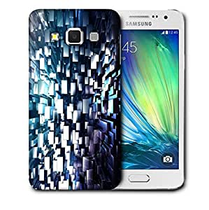 Snoogg Silver Blocks Printed Protective Phone Back Case Cover For Samsung Galaxy A3