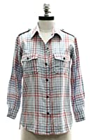 Current/Elliott The Perfect Shirt in Indigo Mixed Gingham