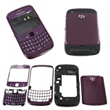GENUINE FULL PURPLE HOUSING FOR BLACKBERRY CURVE 8520 + KEYPAD LENS BATTERY COVER